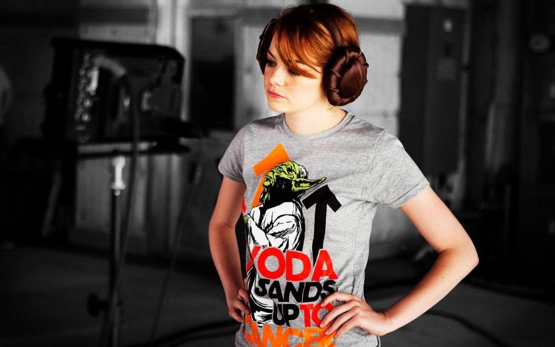 women Star Wars actress celebrity Emma Stone singers wallpaper