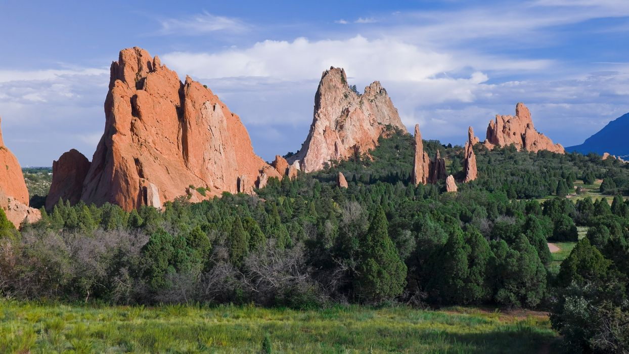 Mountains Nature Forests Colorado Garden Of The Gods Wallpaper