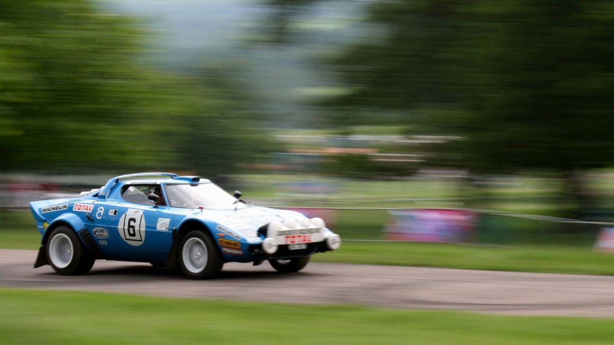 cars motion blur  Lancia Stratos wallpaper