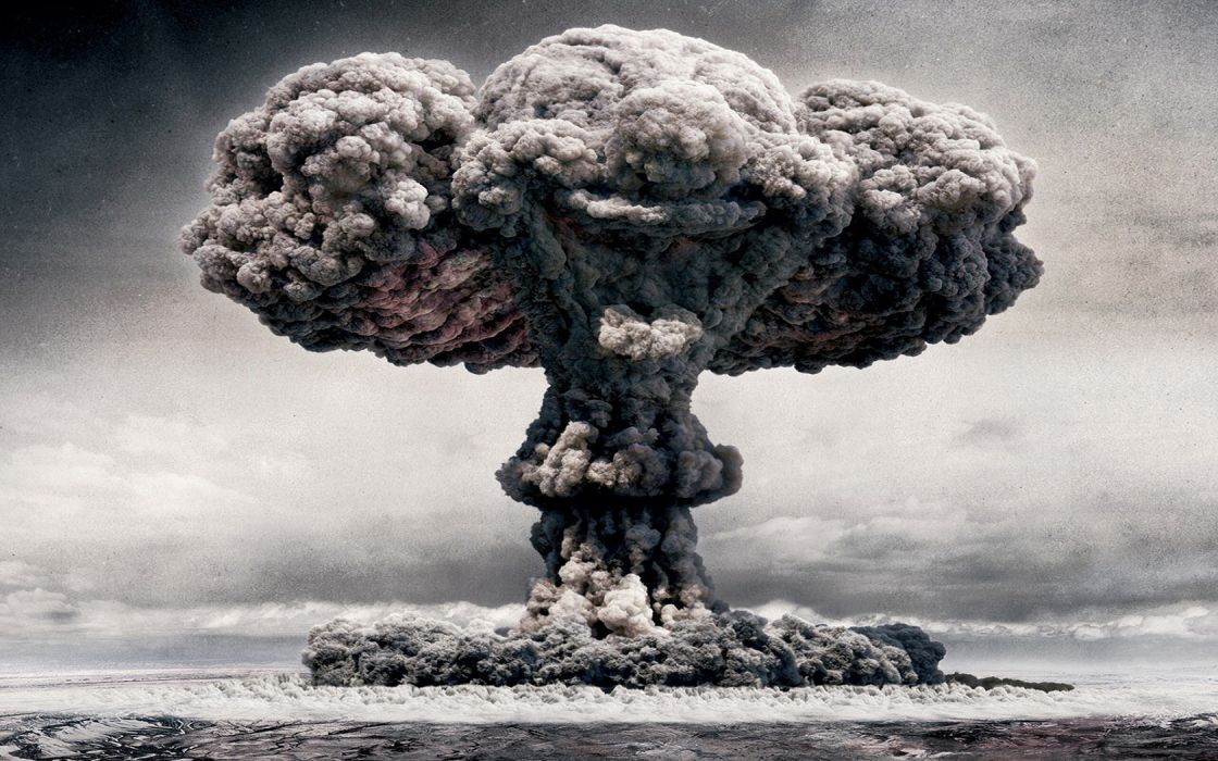 clouds explosions nuclear smoke clowns destruction wallpaper