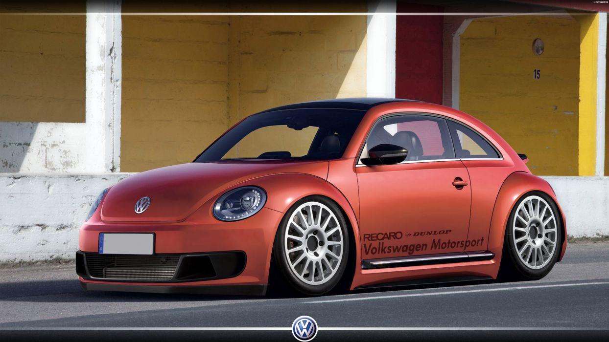 cars DeviantART digital art tuning Volkswagen Beetle wallpaper