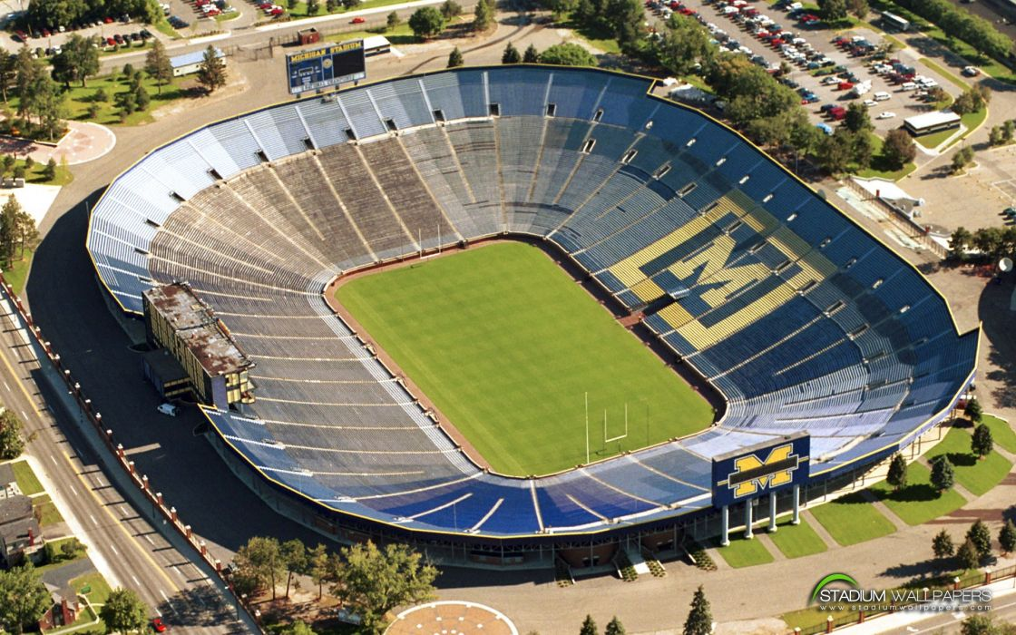 Michigan stadium University of Michigan wallpaper