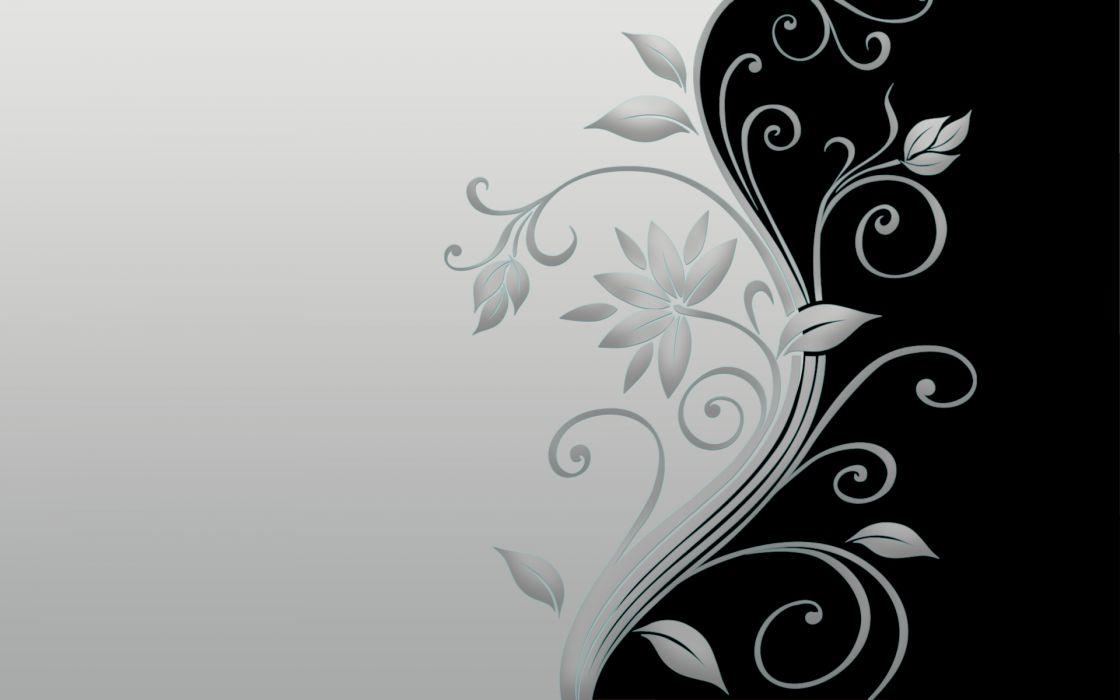 flowers monochrome wallpaper