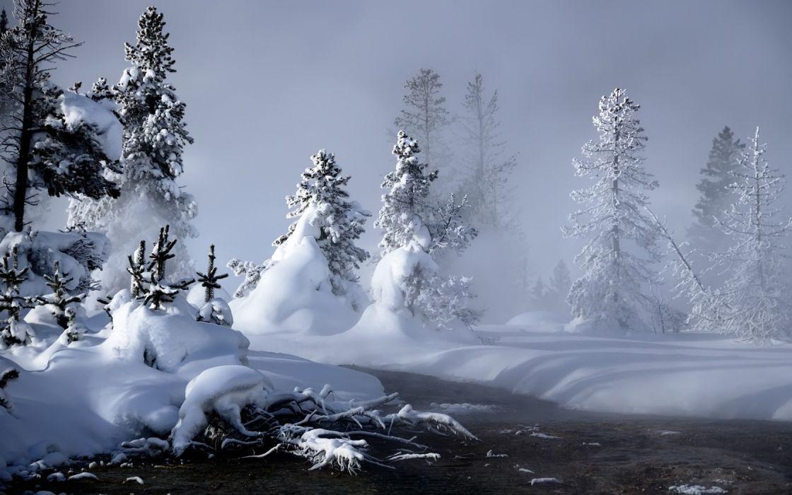 winter snow landscapes wallpaper