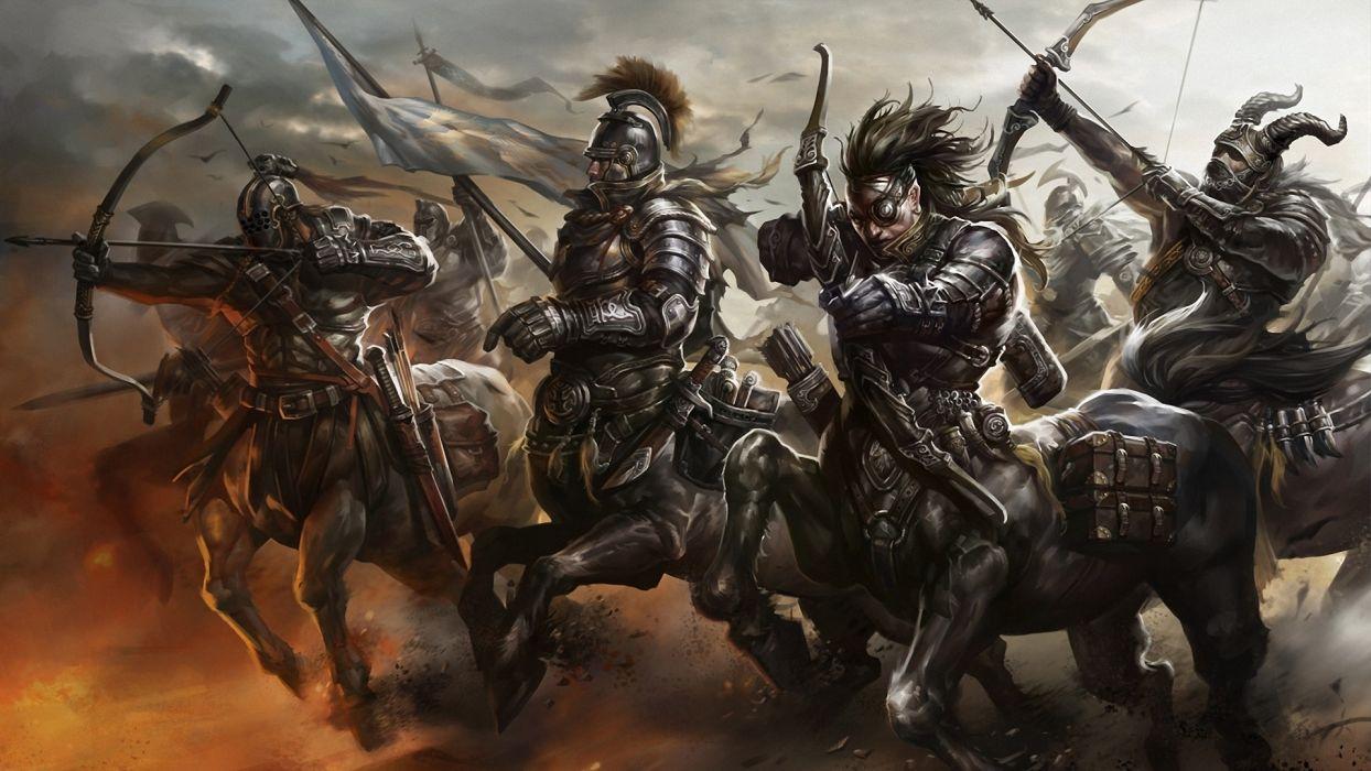 fantasy fantasy art centaur digital art concept art warriors mythology wallpaper