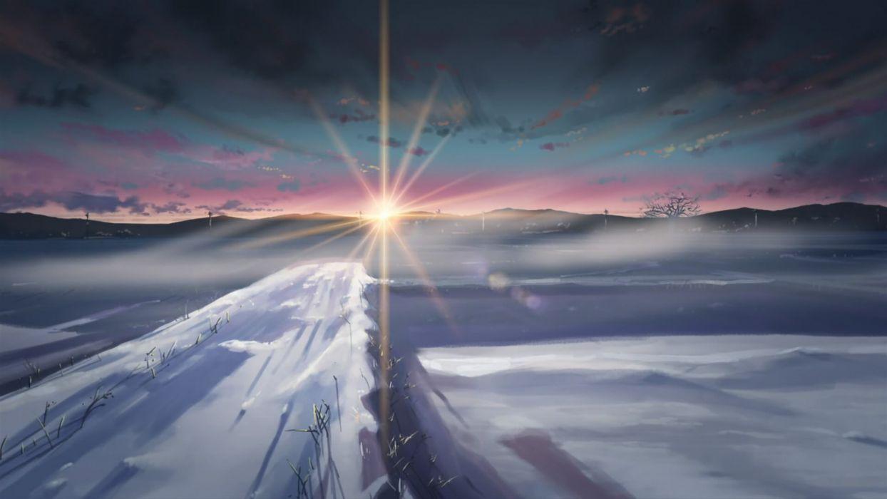 Winter Snow Makoto Shinkai Sunlight 5 Centimeters Per Second