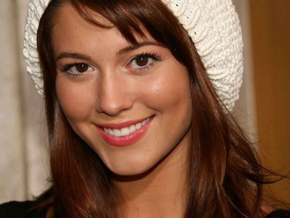 brunettes women Mary Elizabeth Winstead brown eyes smiling hats wallpaper