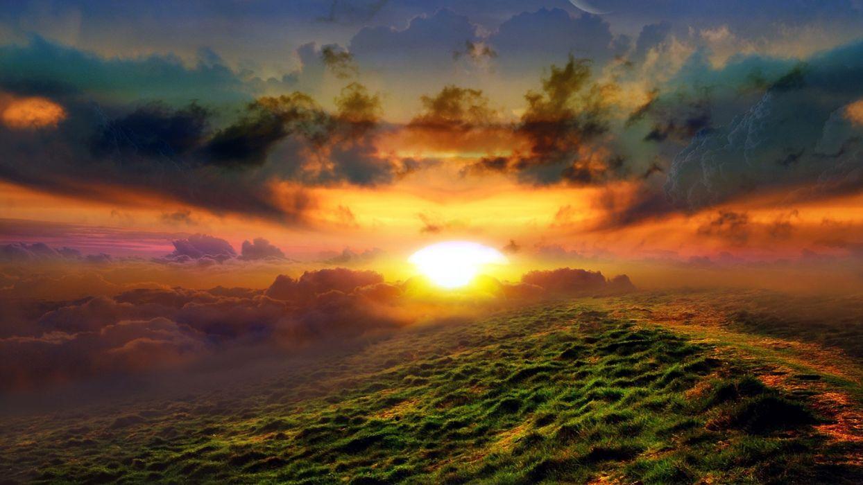 landscapes Sun wallpaper