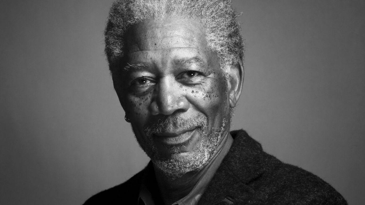 black people men grayscale actors Morgan Freeman wallpaper