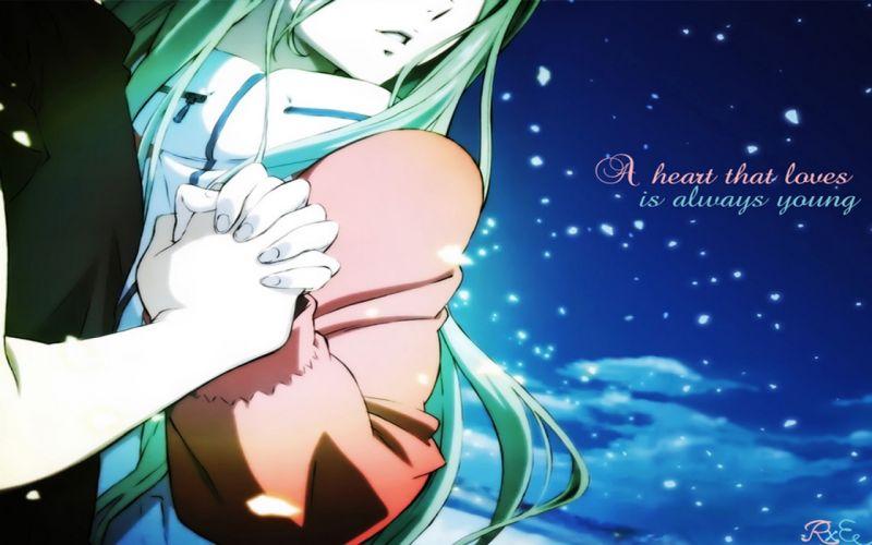 blue love Eureka Seven Eureka (character) couple anime anime girls wallpaper