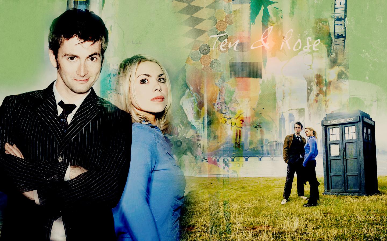 Rose Tyler TARDIS David Tennant Billie Piper Doctor Who ...