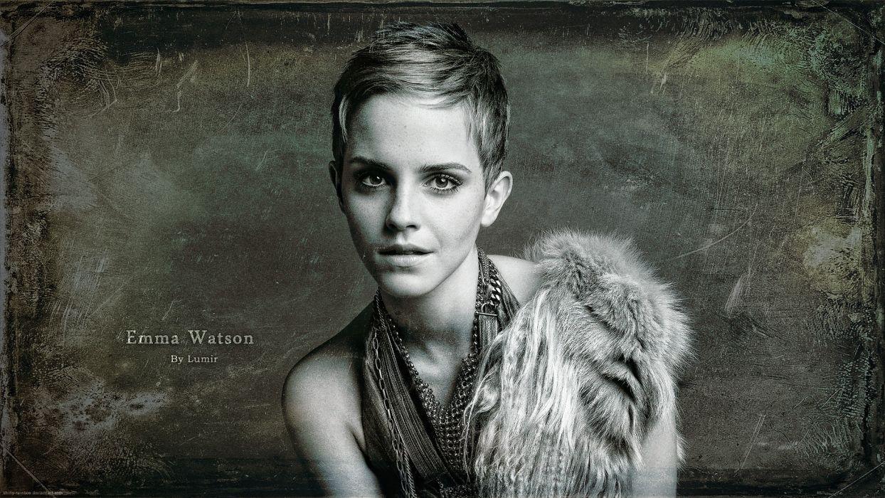 blondes women eyes Emma Watson actress lips Emma photo manipulation Lumir wallpaper