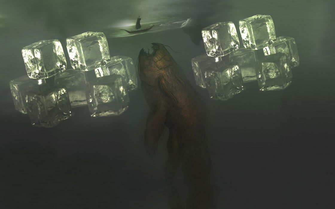 fish ships surrealism artwork vehicles wallpaper