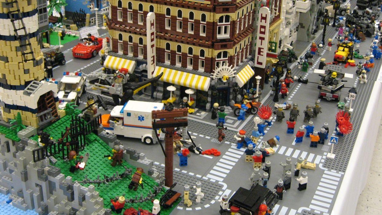 zombies bricks fun Legos toys wallpaper