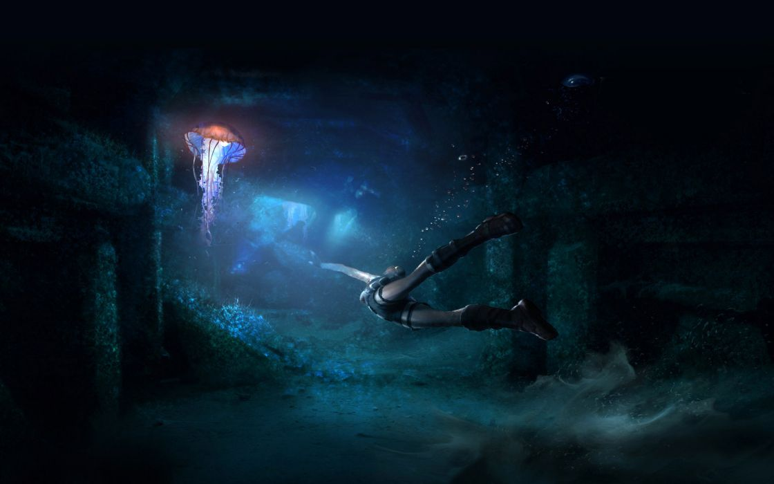 jellyfish underwater ocean sea bokeh jelly (29) wallpaper