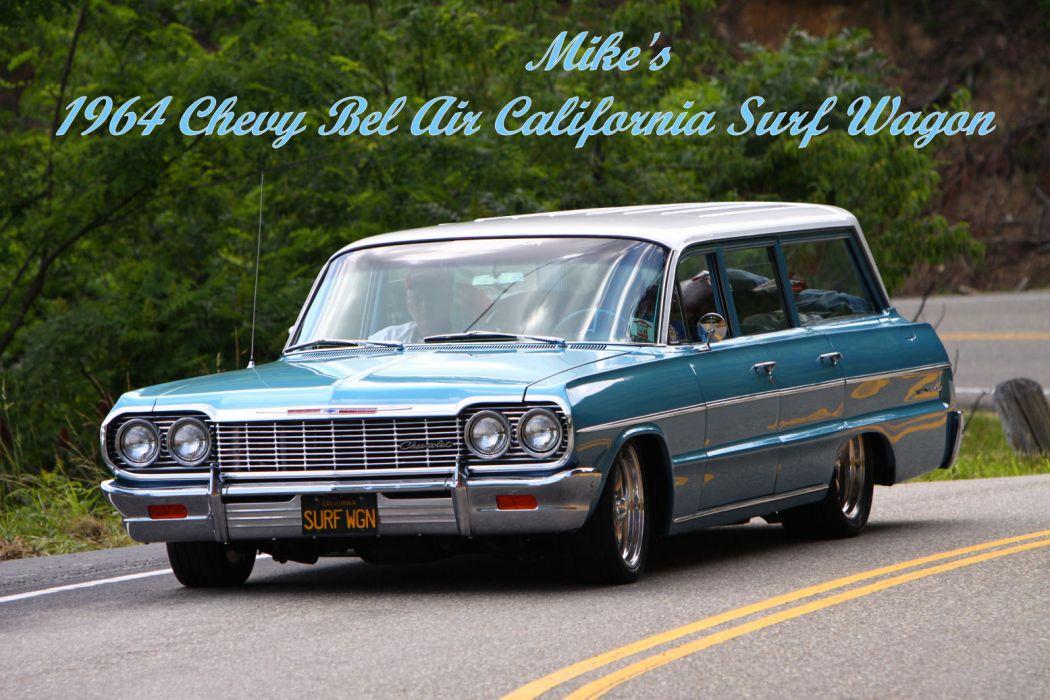 Chevy BelAir California 1964 wallpaper