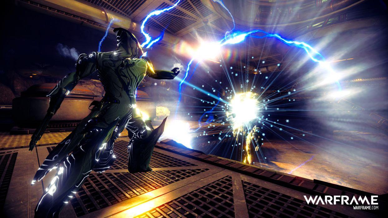 WARFRAME sci-fi warrior armor robot cyborg  c wallpaper