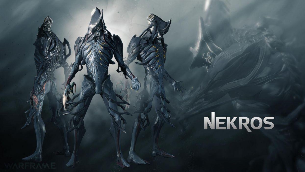 WARFRAME sci-fi warrior armor robot cyborg poster    g wallpaper