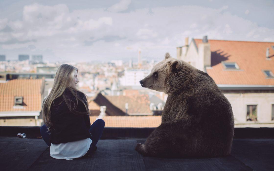 situation bear girl wallpaper