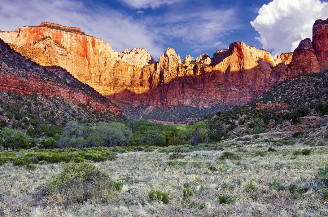 Zion National Park usa mountains landscape wallpaper