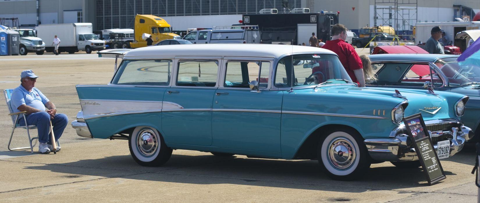 Chevrolet Bel Air Townsman 1957 wallpaper