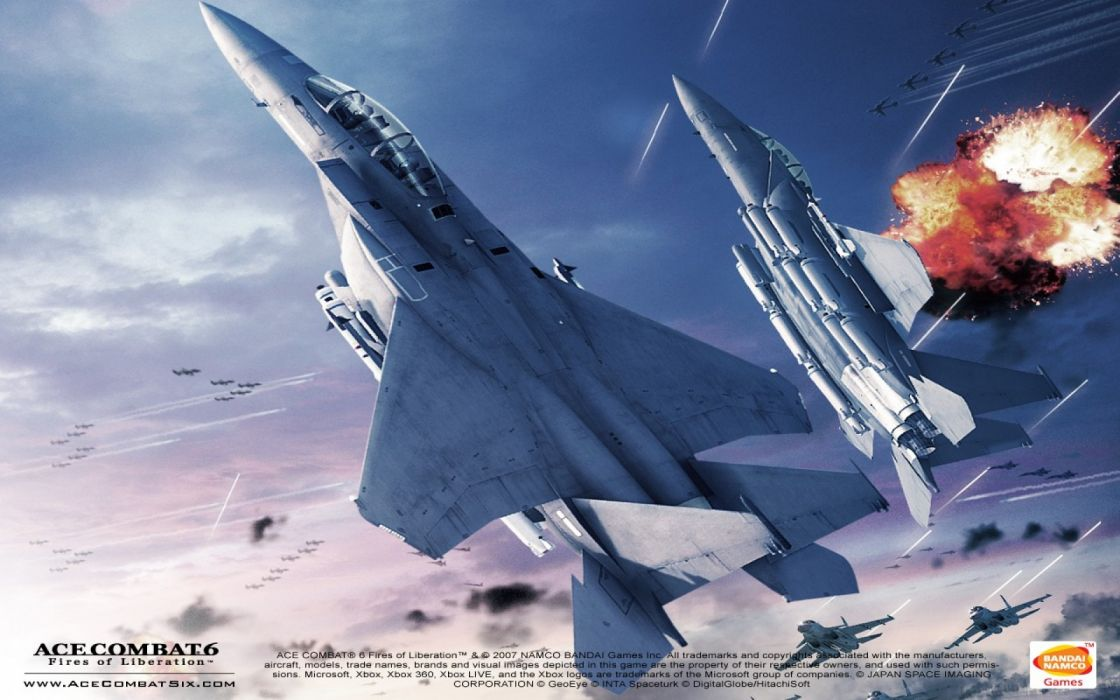 ACE COMBAT game jet airplane aircraft fighter plane military    f wallpaper