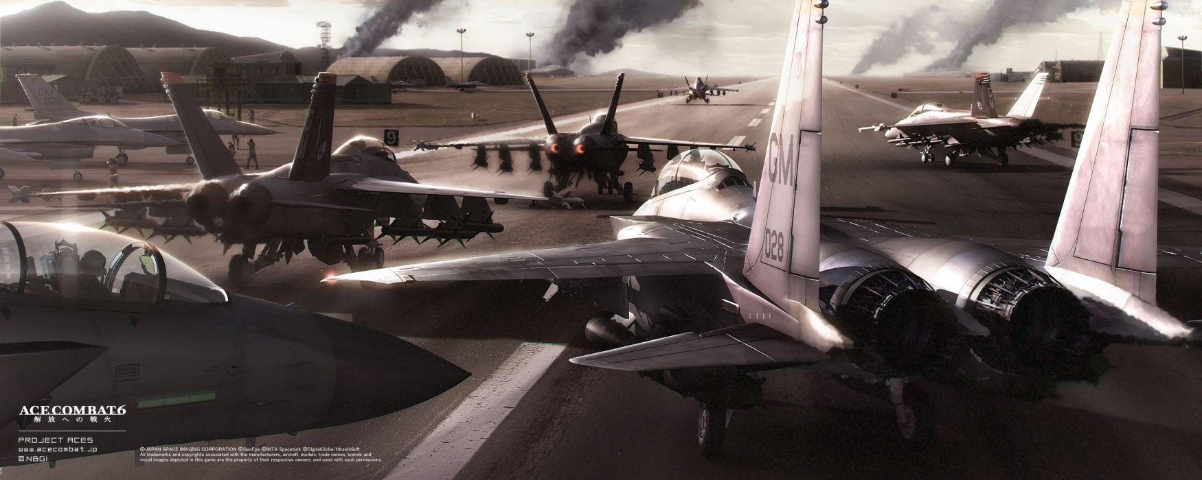 ACE COMBAT game jet airplane aircraft fighter plane military    vg wallpaper