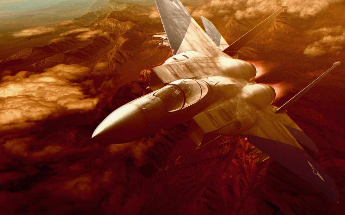 ACE COMBAT game jet airplane aircraft fighter plane military   h wallpaper