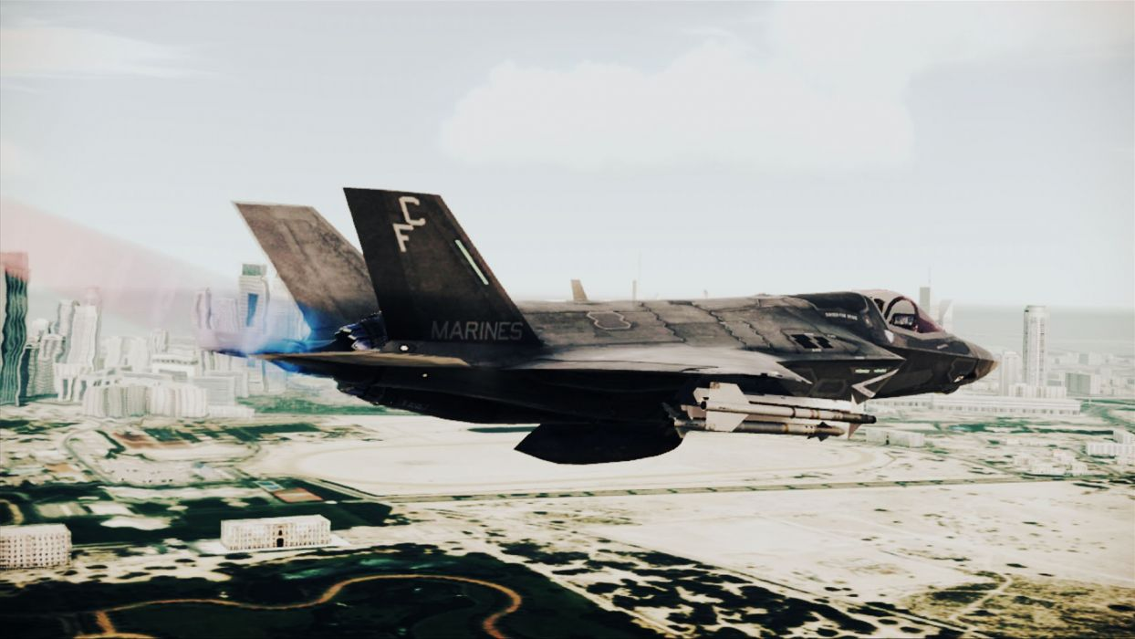 ACE COMBAT game jet airplane aircraft fighter plane military  gj wallpaper