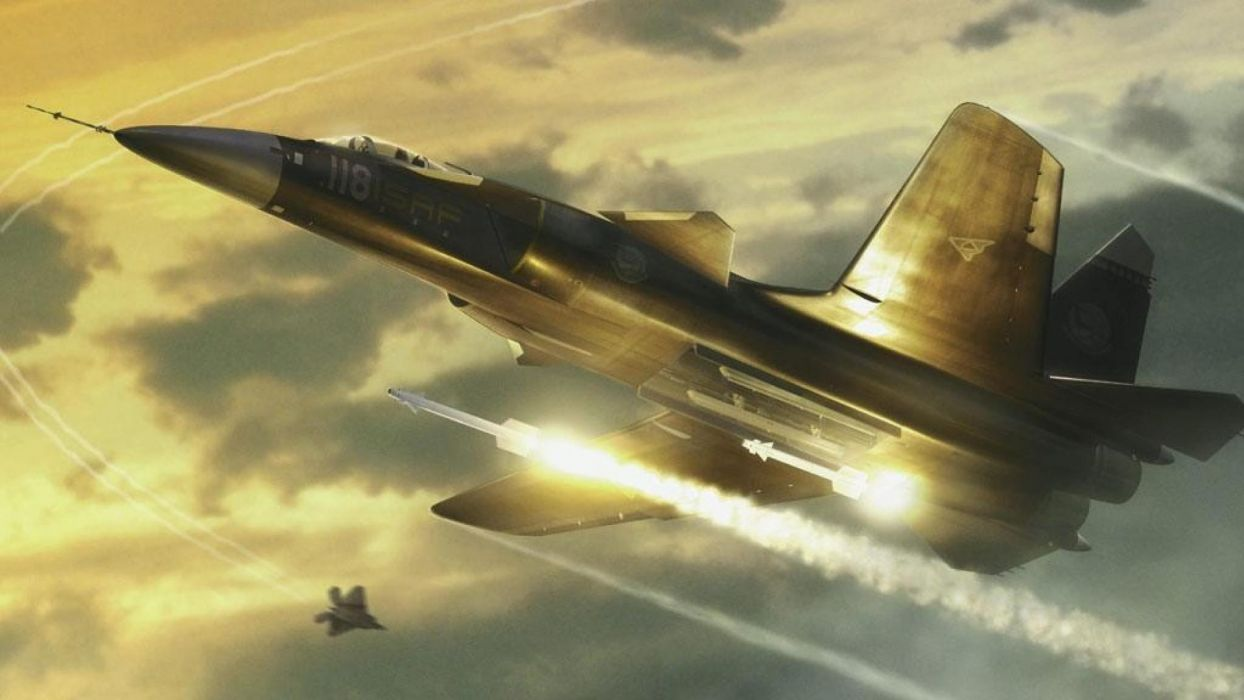 ACE COMBAT game jet airplane aircraft fighter plane military battle     f wallpaper