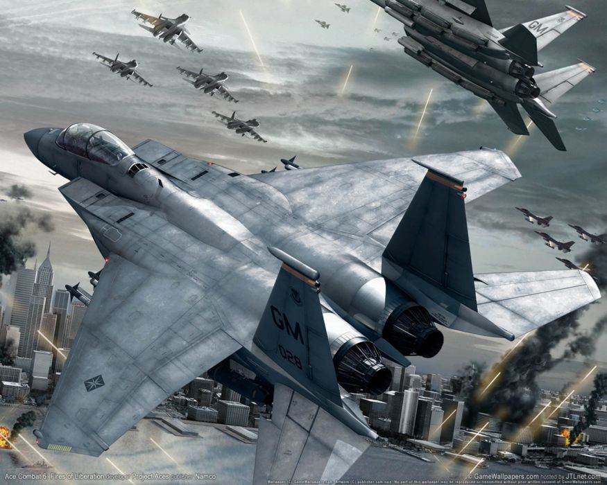 ACE COMBAT game jet airplane aircraft fighter plane military battle     gw wallpaper