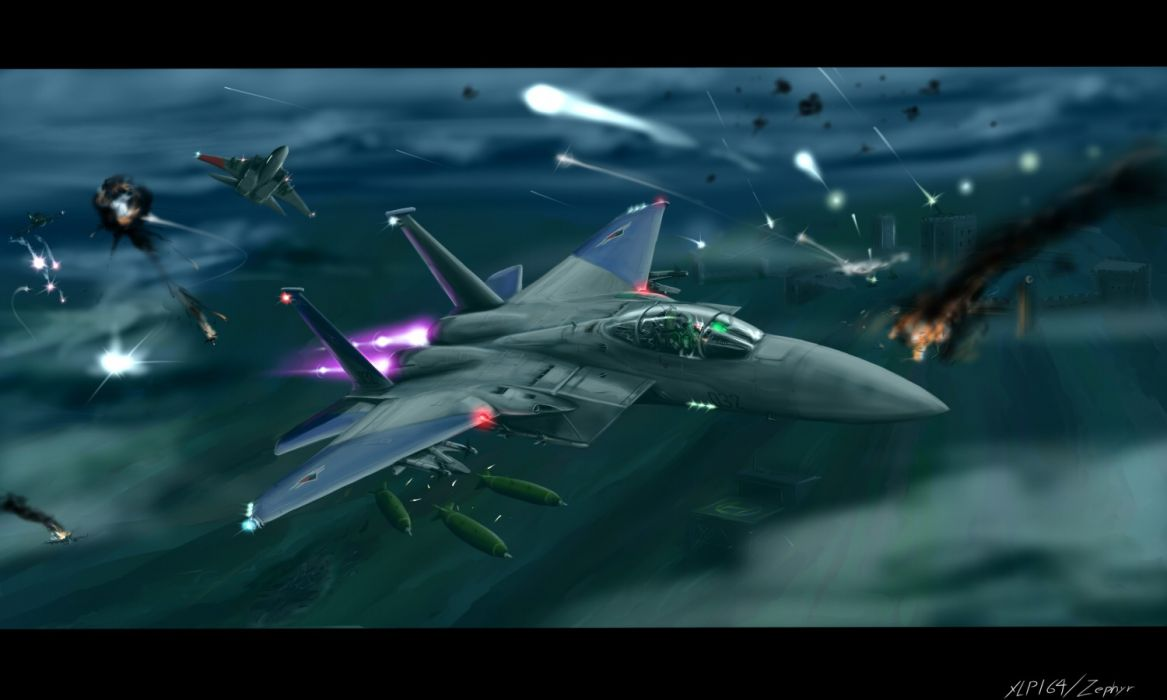 ACE COMBAT game jet airplane aircraft fighter plane military battle    rt wallpaper