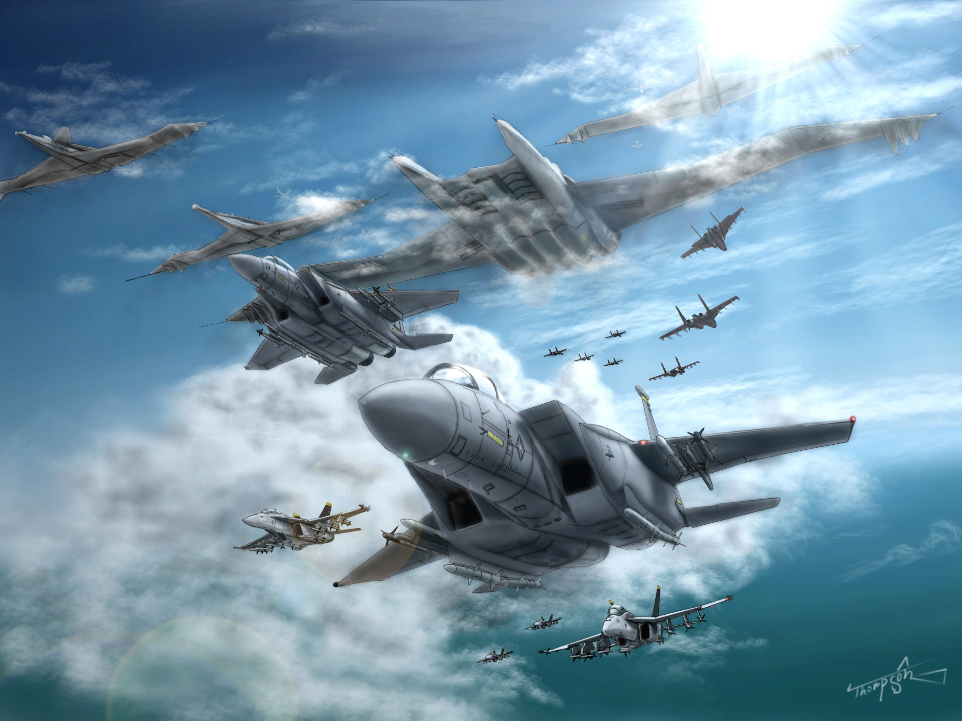 ace combat game jet airplane aircraft fighter plane military battle