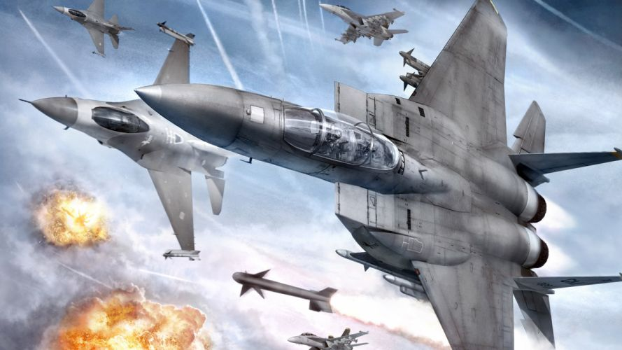 ACE COMBAT game jet airplane aircraft fighter plane military battle h wallpaper