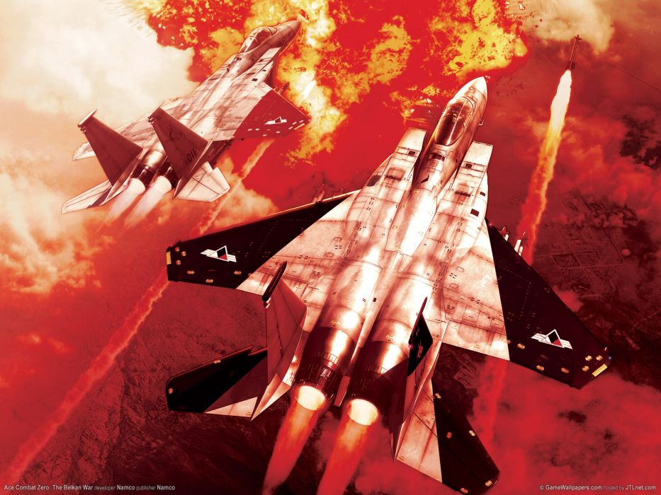 ACE COMBAT game jet airplane aircraft fighter plane military battle weapon missile       t wallpaper