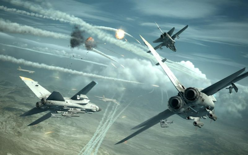 ACE COMBAT game jet airplane aircraft fighter plane military battle weapon missile y wallpaper