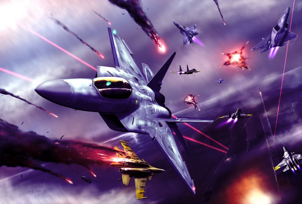 ACE COMBAT game jet airplane aircraft fighter plane military battle weapon missile   e wallpaper