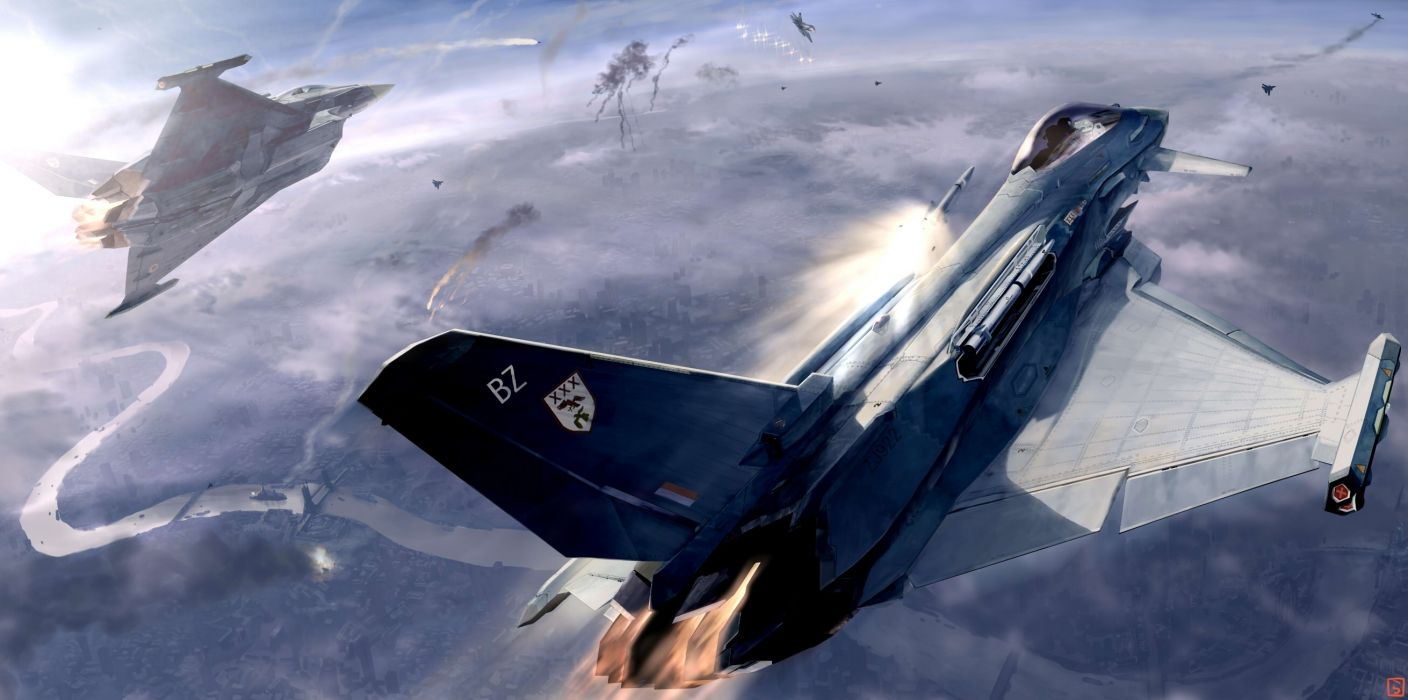 ACE COMBAT game jet airplane aircraft fighter plane military battle weapon missile g wallpaper
