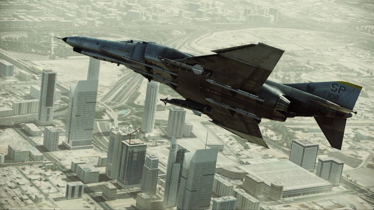 ACE COMBAT game jet airplane aircraft fighter plane military city   h wallpaper