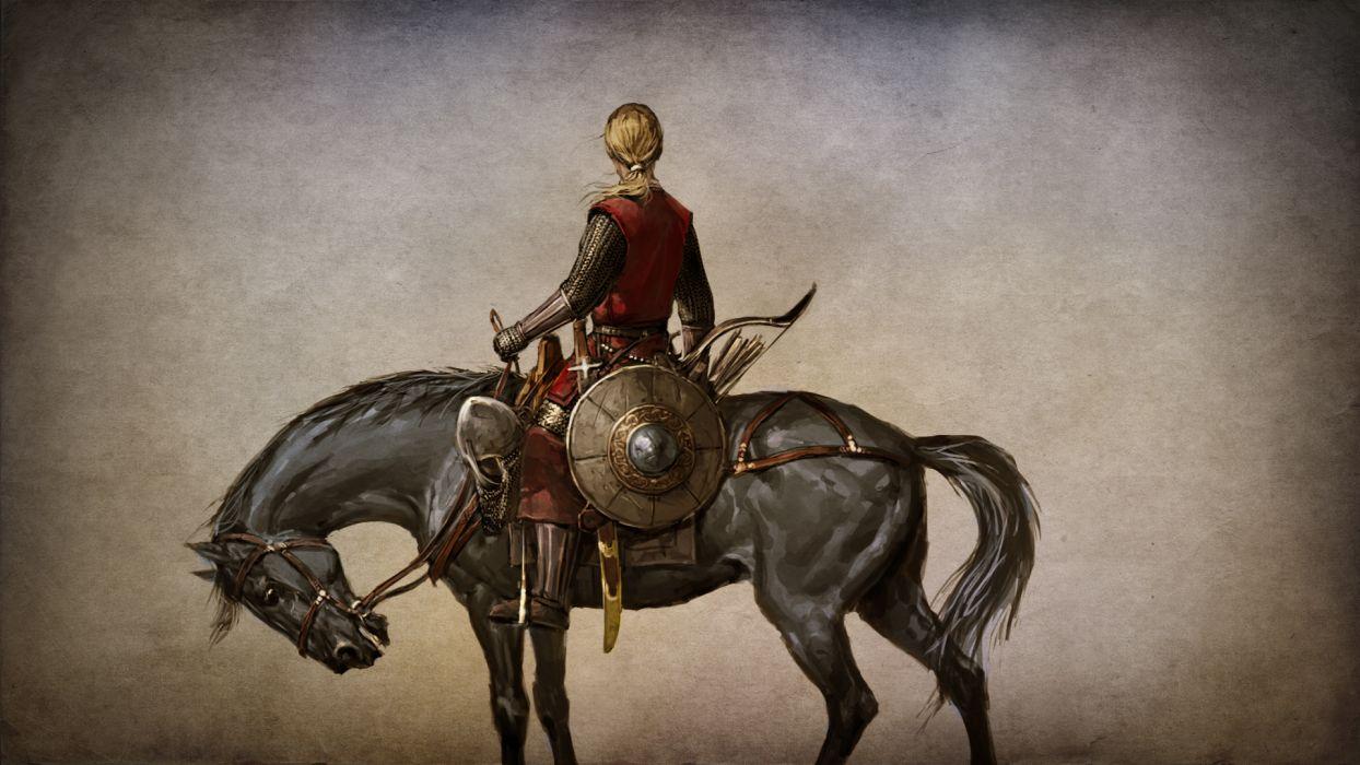 MOUNT AND BLADE fantasy warrior armor horse     g wallpaper