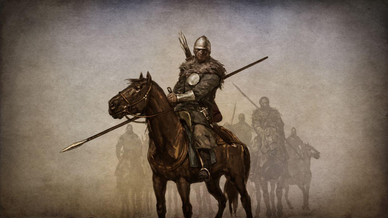 MOUNT AND BLADE fantasy warrior armor horse  h wallpaper