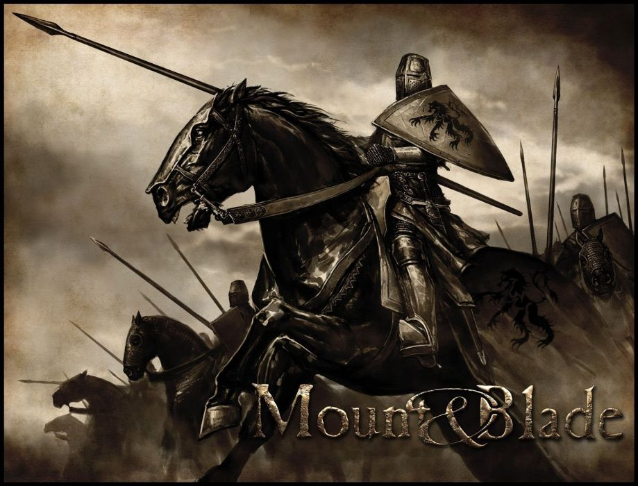 MOUNT AND BLADE fantasy warrior armor horse poster    f wallpaper