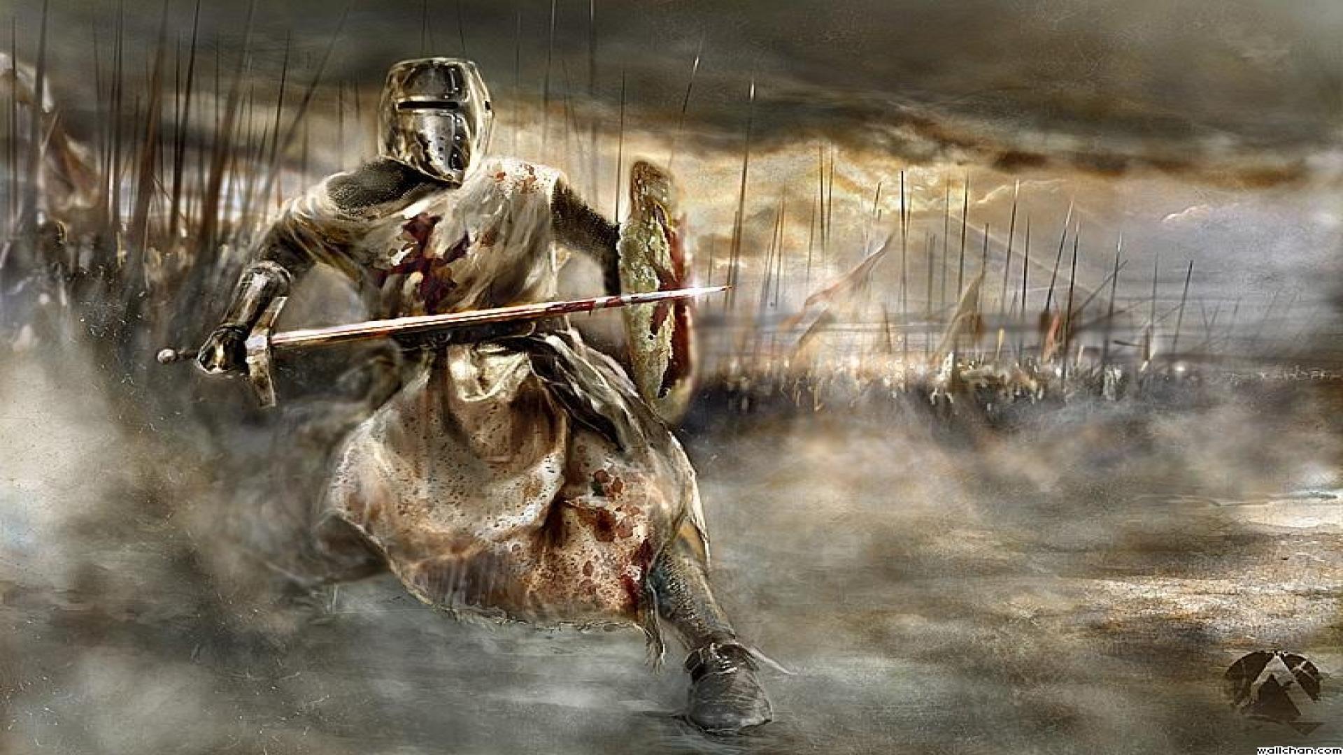 Knights in Battle Wallpaper Knight Battle e Wallpaper
