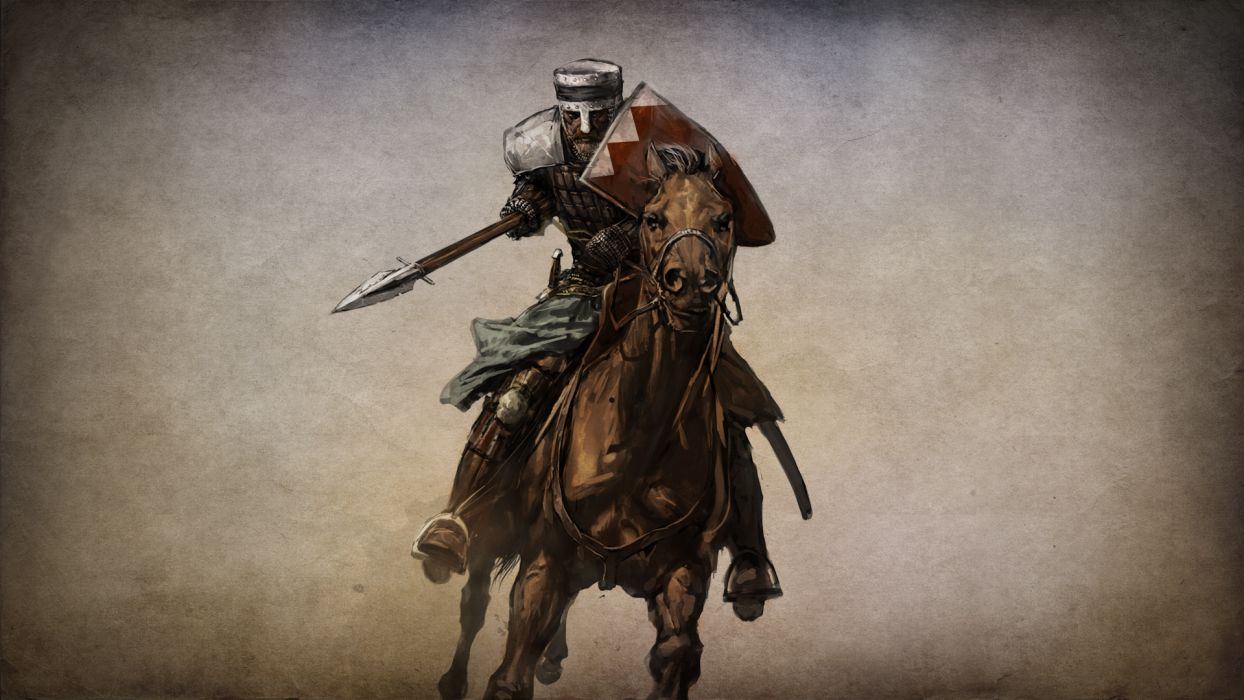 MOUNT AND BLADE fantasy warrior armor weapon sword horse    g wallpaper