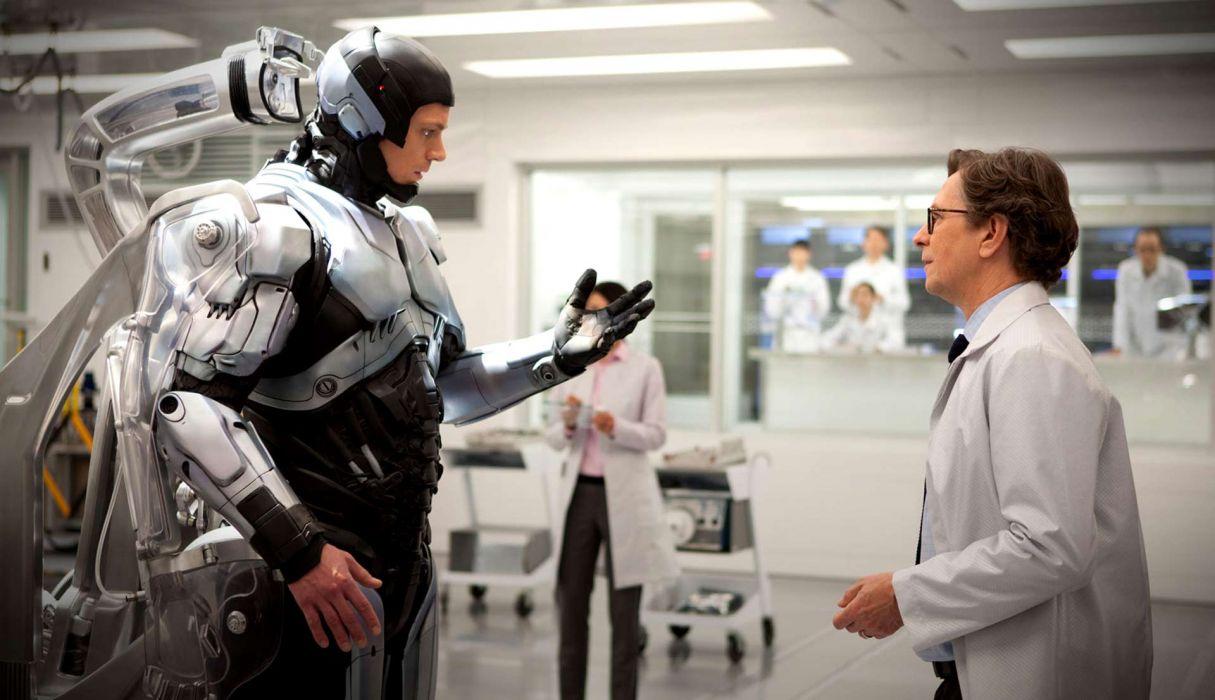 ROBOCOP sci-fi cyborg robot warrior armor   d wallpaper