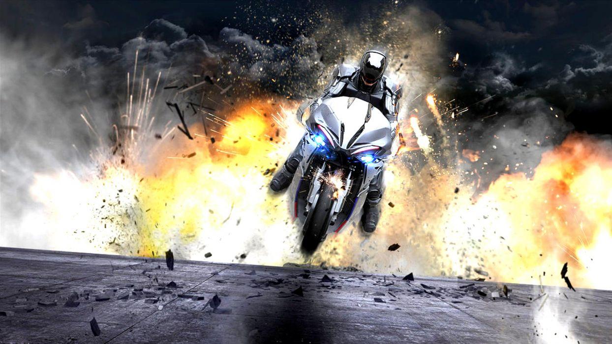 ROBOCOP sci-fi cyborg robot warrior armor explosion fire     f wallpaper