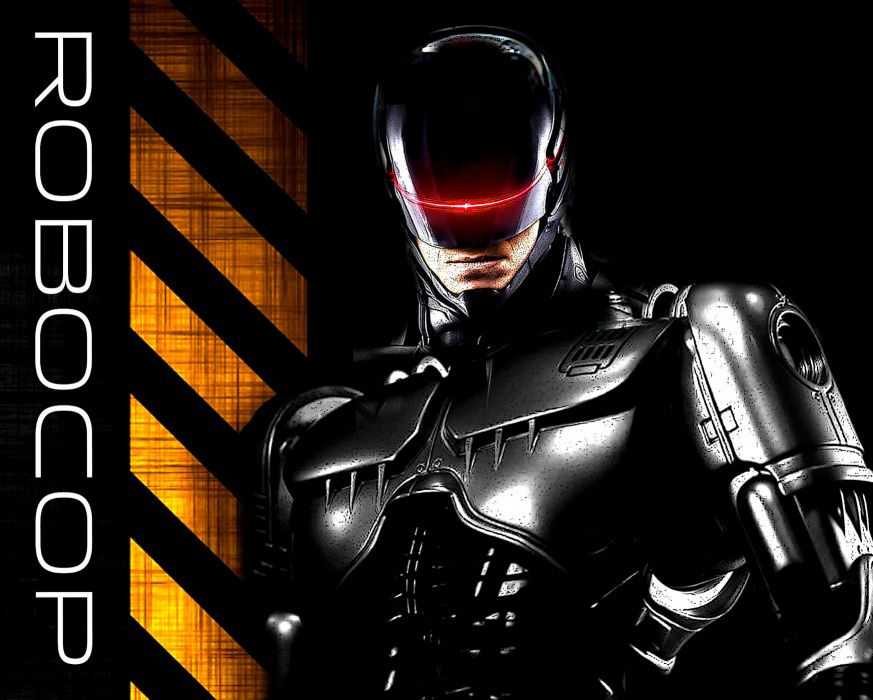 ROBOCOP sci-fi cyborg robot warrior armor mask poster      by wallpaper