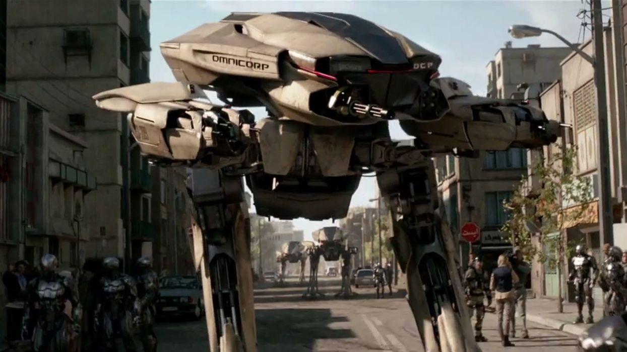 ROBOCOP sci-fi cyborg robot warrior armor mecha mech f wallpaper