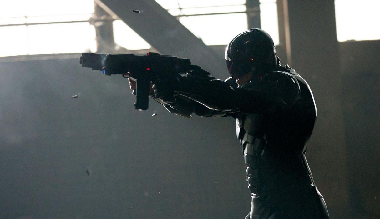 ROBOCOP sci-fi cyborg robot warrior armor weapon gun ammo bullet ammunition    f wallpaper