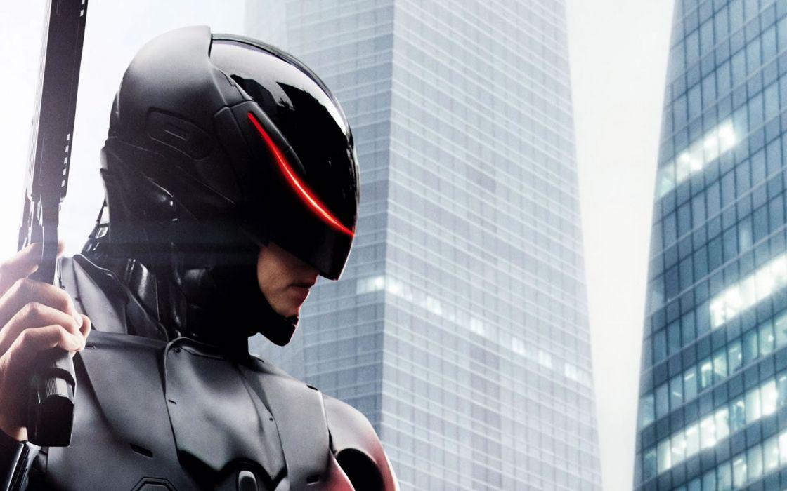 ROBOCOP sci-fi cyborg robot warrior armor weapon gun pistol mask     f wallpaper